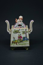 Chinese Antique Porcelai Incense Burner With Guardian Lion - 4.5 Inches - - $128.69