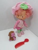 Vintage Raspberry Tart Strawberry Shortcake doll With Pet Rhubarb + comb - $19.79