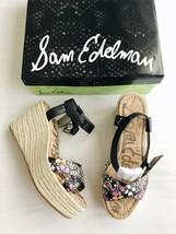 New SAM EDELMAN Destin Espadrille Wedge Sandals Putty Women's Size 8M $130 NIB - $42.08