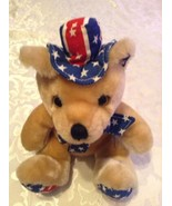 USA bear animal American patriotic plush stuffed 10.5 inches July 4th - $7.79