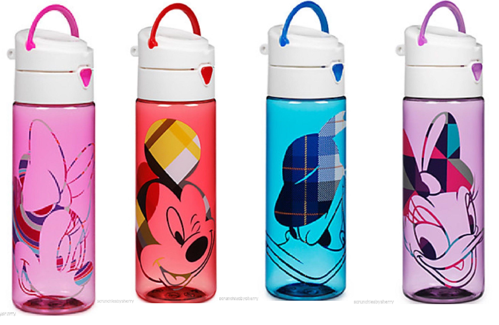Disney Store Plastic Water Bottle Minnie Mickey Mouse Donald Daisy Duck New