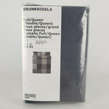 Ikea Brunkrissla Full/Queen Duvet Cover Pillowcases Black Gray 103.755.2... - $54.22