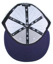 Dissizit New Era Fitted Baseball Cap White/Navy Pinstripe Hat New York City NYC image 7