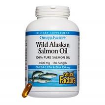 Omega Factors Wild Alaskan Salmon Oil, Supports Heart and Brain Health 180 Count - $51.98