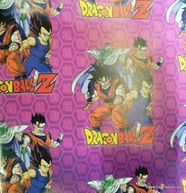 Dragon Ball Z Wrapping Paper Sheet Gift Book Cover Party Wrap 2 Sheets Asian Boy - $15.79