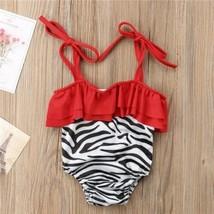 Cute Kids Baby Girl Line Striped Bodysuits Tankini Bikini Set Swimwear S... - $9.25+