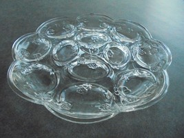 """Vintage Clear Egg Tray 10"""" Wide - $7.92"""