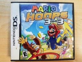 Mario Hoops 3 on 3 (Nintendo DS, 2006) Case and Game - $12.86