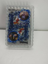 Disneyland Playing Cards Disney World Sorcerer Mickey Clear Coated Trans... - $14.85