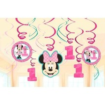 Minnie Mouse Fun to Be One Swirl Decoration Val... - $7.49