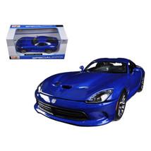 2013 Dodge Viper SRT GTS Blue 1/24 Diecast Car Model by Maisto 31271bl - $28.33