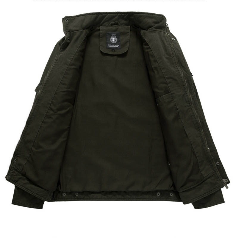 Men's Autumn and Winter Cotton Coat Outdoor Windproof Waterproof Warm Stand Coll image 6