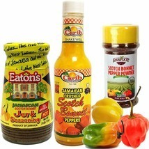 Jamaican Scotch Bonnet Pepper Jerk Seasoning and Pepper Powder Variety 3... - $21.77