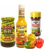 Jamaican Scotch Bonnet Pepper Jerk Seasoning and Pepper Powder Variety 3... - £21.67 GBP