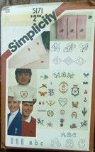 Simplicity Pattern 5171 Transfers for 24 Embroidery Monograms Motifs New - $5.93