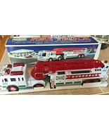 NEW 2000 Hess Fire Truck with Flashers, Sirens, Horn, Lights, Extension ... - $27.95