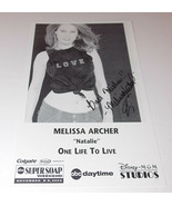 Melissa Archer Autograph Reprint Photo 9x6 One Life to Live 2003 Days of... - $4.99