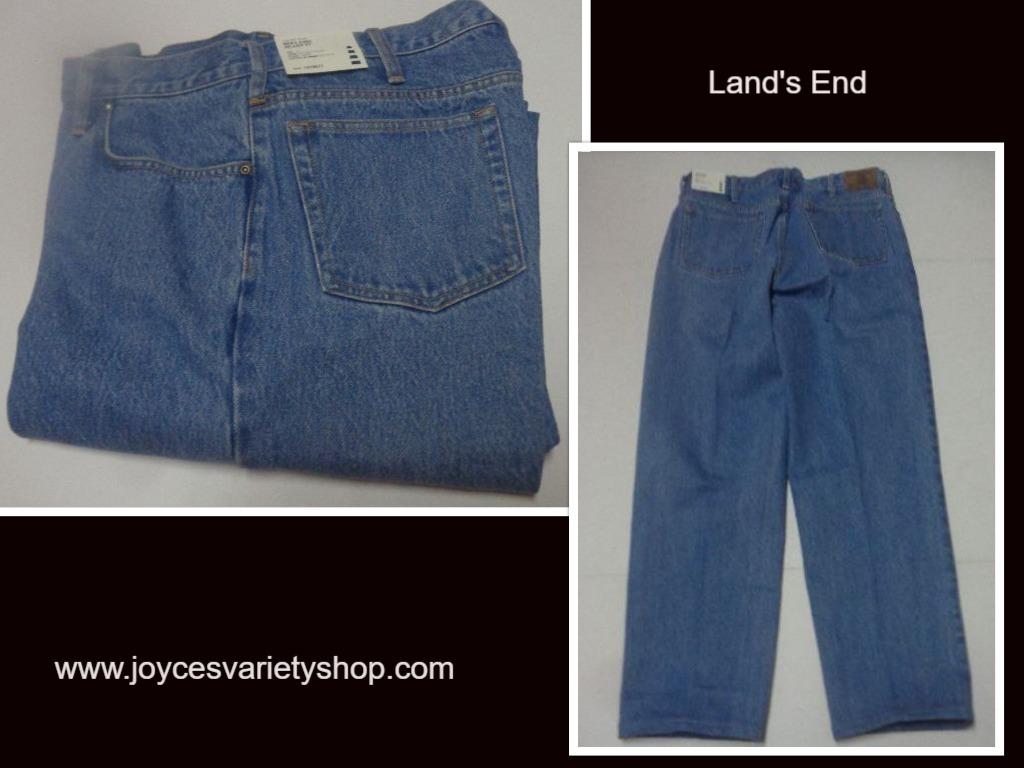 Mens lands end blue jeans web collage