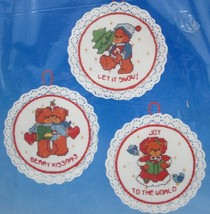 Dimensions Holiday Bears Christmas Ornaments Counted Cross Stitch Kit 83... - $19.30