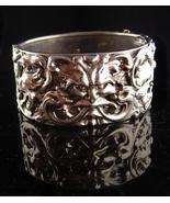 Medieval Bracelet - Bacchus Relief - Vintage silver bangle - mythical ga... - $295.00