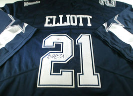 EZEKIEL ELLIOTT / AUTOGRAPHED DALLAS COWBOYS BLUE PRO STYLE FOOTBALL JERSEY COA