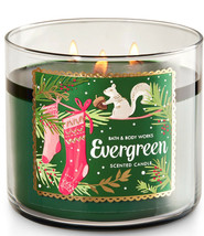 Bath & Body Works Evergreen Three Wick 14.5 Ounces Scented Candle  - $23.95