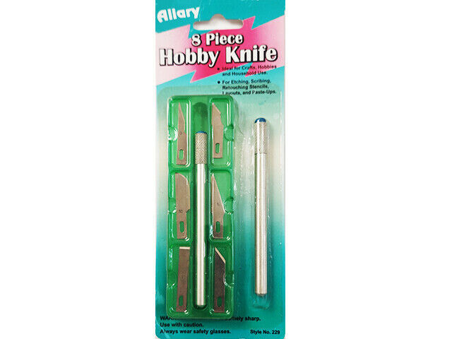 Allary 8 Piece Hobby Knife Set #229