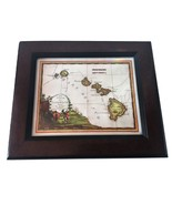 Lahaina Printsellers Framed Repro of Le Isole di Sandwich Antique Hawaii... - $249.99