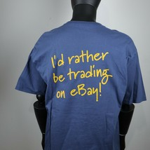 vintage 90s Ebay tee shirt id rather be trading on ebay promo tee t shirt - $39.60