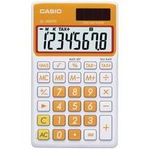 CASIO(R) SL300VCOESIH Solar Wallet Calculator with 8-Digit Display (Orange) - $24.61