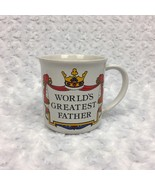 Worlds Greatest Father Dad Gift Collectible Royal Theme White Vintage Co... - £7.55 GBP