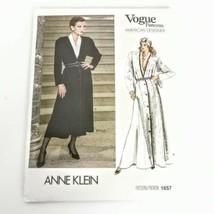 Vogue 1657 Pattern Anne Klein Size 8 Dress Coat Designer Vtg 80s Uncut - $17.99