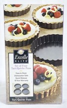 "4 WILTON Excelle Elite 4"" x 3/4"" Round Tart/Quiche Pans In Open Box Never Used - $9.79"