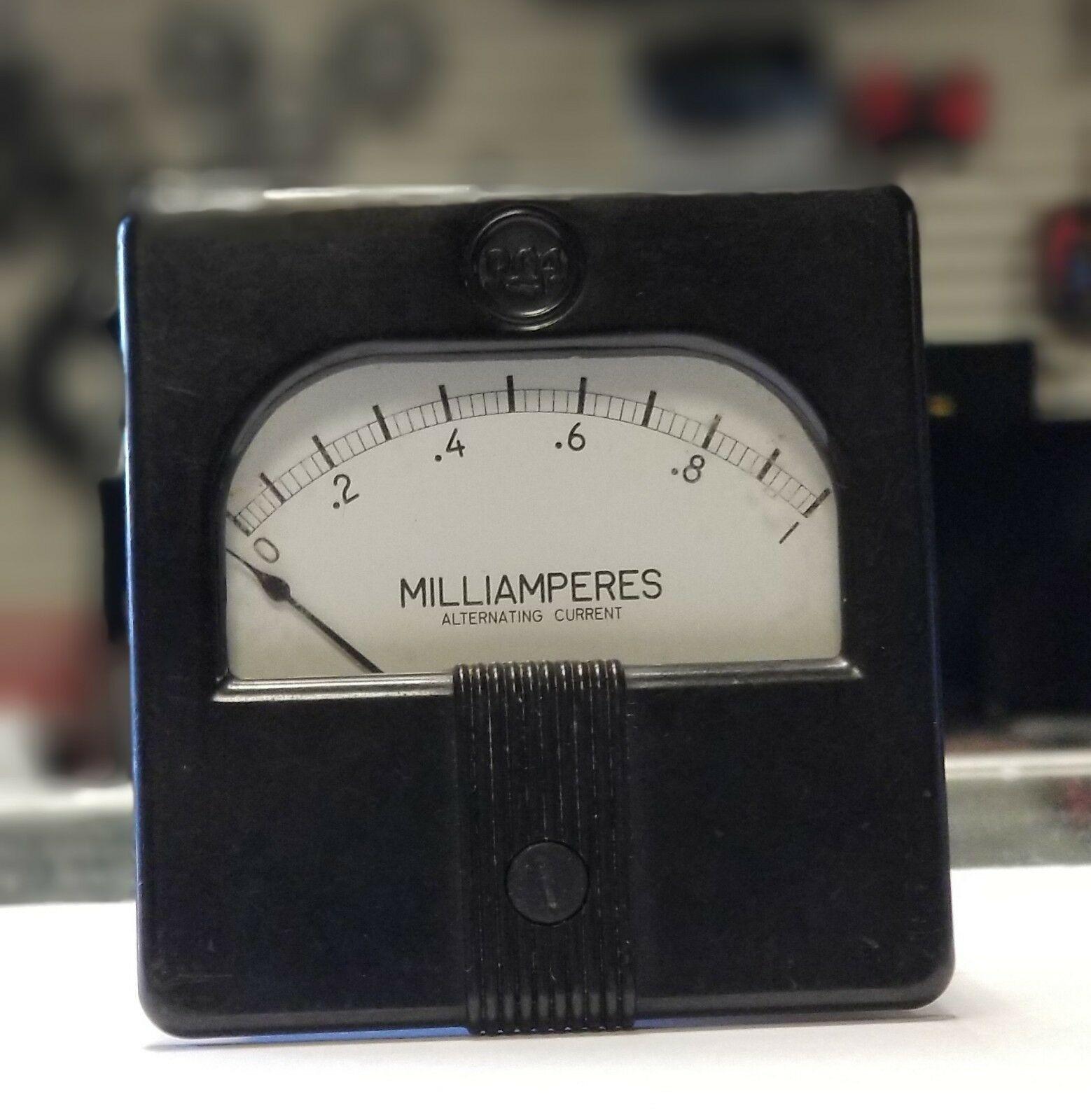 Vintage Westinghouse RCA Milliamperes Direct Current Meter Gauge