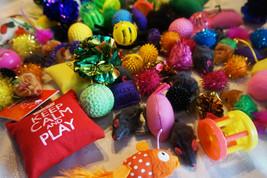 New Bulk Buy Cat Kitten Toys Fur Mice Bells Balls Catnip 10 items BARGAIN - $8.18