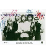 STYX GROUP BAND SIGNED AUTOGRAPHED 8x10 RP PHOTO BY ALL PIECES OF EIGHT ... - $18.99