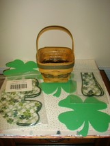 Longaberger 1999 Lots Of Luck St. Patrick's Day Basket Combo   - $28.99