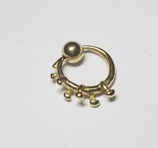 "Captive Nipple Ear Ring 14 Gauge 1/2"" Gold Plate Tribal Body Jewelry - $7.99"