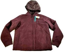 New Perry Ellis Women Jacket Coat 4CFR9012BC Burgundy S Msrp $170 - $59.99