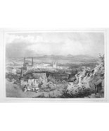 HUNGARY Miskolc View of City Town - 1870s Original Engraving Print - $30.22