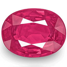 IGI Certified MOZAMBIQUE Ruby 1.48 Cts Natural Untreated Pinkish Red Oval - $1,628.00