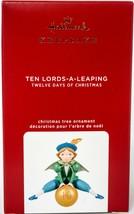 Hallmark  Ten Lords-A-Leaping - 12 Days of Christmas  Keepsake Ornament ... - $35.63
