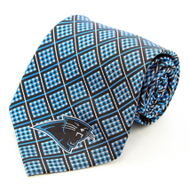 Carolina Panthers Mens Silk Necktie NFL Football Logo Neck Tie Sports Fa... - $32.95