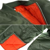 MJC USA Men's Long Oversized Curved Hem Parka Streetwear Bomber Jacket - XL image 5