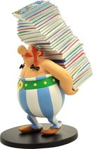 Obelix stack of comic book resin statue Asterix official product