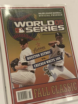 Chicago White Sox Houston Astros Baseball  2005 World Series Official Pr... - $12.95