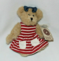 """Retired Boyds Bears 6in """"Mandy"""" Style #919811 Collectible Red Striped Dress - $15.47"""