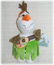 "Disney Store Frozen Movie OLAF Snowman Plush 13"" Hawaiian Hula Skirt NWT... - $15.19"