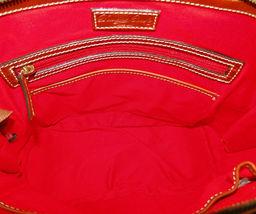 Dooney & Bourke Pebble Leather Zip Zip Satchel CARAMEL image 7