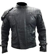 Star Lord Guardians Galaxy Volume 2 Chris Pratt Quill Black Leather Jacket image 1